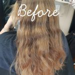 Reverse balayage before | Peak-a-do Hairdresser Ipswich QLD