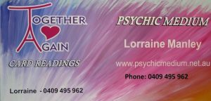 Lorraine Manley - Psychic Medium - Together Again Card Readings - Ipswich, QLD