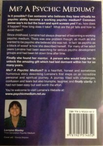 Me? A Psychic Medium? - Lorraine Manley - Book - Back Cover